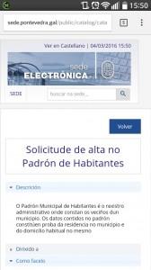 sede electrónica concello pontevedra móvil
